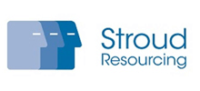 Stroud Resourcing's logo takes you to their list of jobs