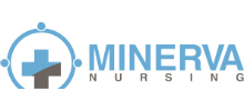 Minerva Nursing's logo takes you to their list of jobs