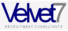 Velvet7 Resourcing's logo takes you to their list of jobs