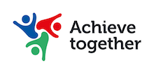 Achieve Together's logo takes you to their list of jobs