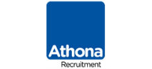 Athona's logo takes you to their list of jobs