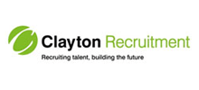 Clayton Recruitment's logo takes you to their list of jobs