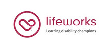 Lifeworks's logo takes you to their list of jobs