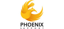 Phoenix Support's logo takes you to their list of jobs