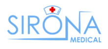 Sirona Medical's logo takes you to their list of jobs