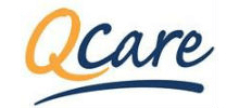 Q Care's logo takes you to their list of jobs