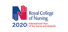Royal College of Nursing's logo takes you to their list of jobs
