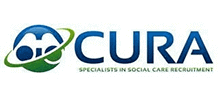 Cura Recruitment's logo takes you to their list of jobs